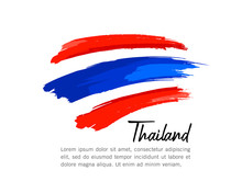Flag Of Thailand Vector Brush ...