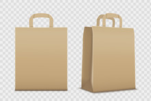 Paper Empty Shopping Bag. Isol...