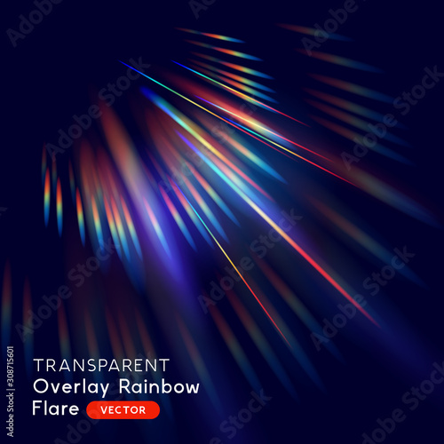 Photo Radiant Rainbow Lens Falre Effect