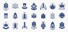 Castles Logos Big Vector Set, ...