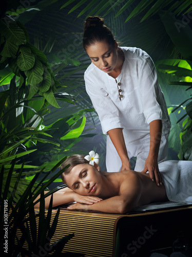 Fototapety, obrazy: portrait of young beautiful woman in spa environment