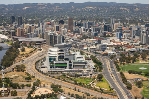 Photo Adelaide South Australia 8 December 2019, Royal Adelaide hospital is part of the