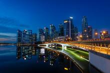 Singapore Skyline At Sunrise