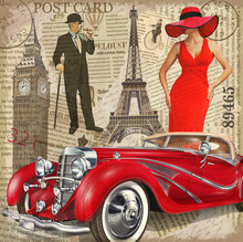 Vintage Poster Paris,London To...