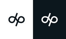 Minimalist Line Art Letter DP Logo. This Logo Icon Incorporate With Letter D And P In The Creative Way.