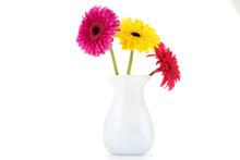 Ceramic Vase With Gerbera Flow...