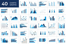 Big Set Of Charst, Graphs. Blu...
