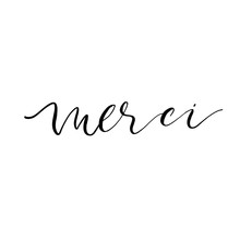 Merci Or Thank You Card. Moder...