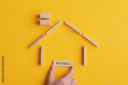 Fotografía Conceptual image of real estate market