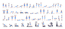 Man Gym Set. Men Workout Set. ...