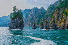 Alaska Landscape Photography, Kenai Fjords National Park, Spire Cove, Resurrection Bay, Kenai Peninsula, Seward, Alaska Mountains, Pacific North West Ocean
