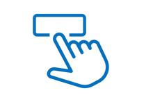 Accessible, Easy, Effortless, Gesture, Press, To, Use Icon