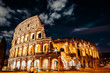 Beautiful Daylight Colosseum in Rome, cloudy, Italy