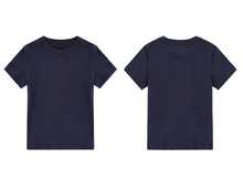 Dark Blue T-shirt, Front And Back View