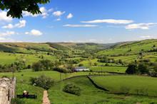 Summer View Through Nidderdale ANOB, North Yorkshire, England.