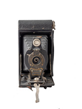 Isolated Antique Bellow Camera Background Photo