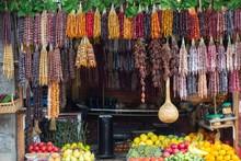 Walnut & Fruit Market In Tbilis