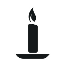 Candle Icon Template Color Editable. Candle Symbol Vector Sign Isolated On White Background. Simple Logo Vector Illustration For Graphic And Web Design.