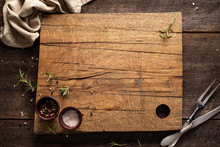 Chopping Board On Dark, Wooden...
