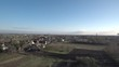 Small village aerial footage