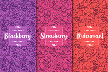 Set Of Three Berries Patterns....