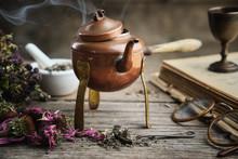 Old Antique Boiling Teapot, Dr...