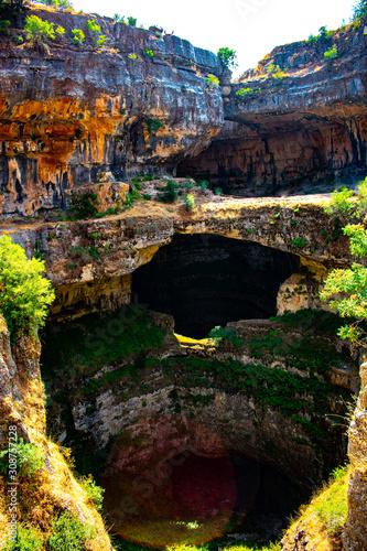 Carta da parati Baatara sinkhole in Mount Lebanon