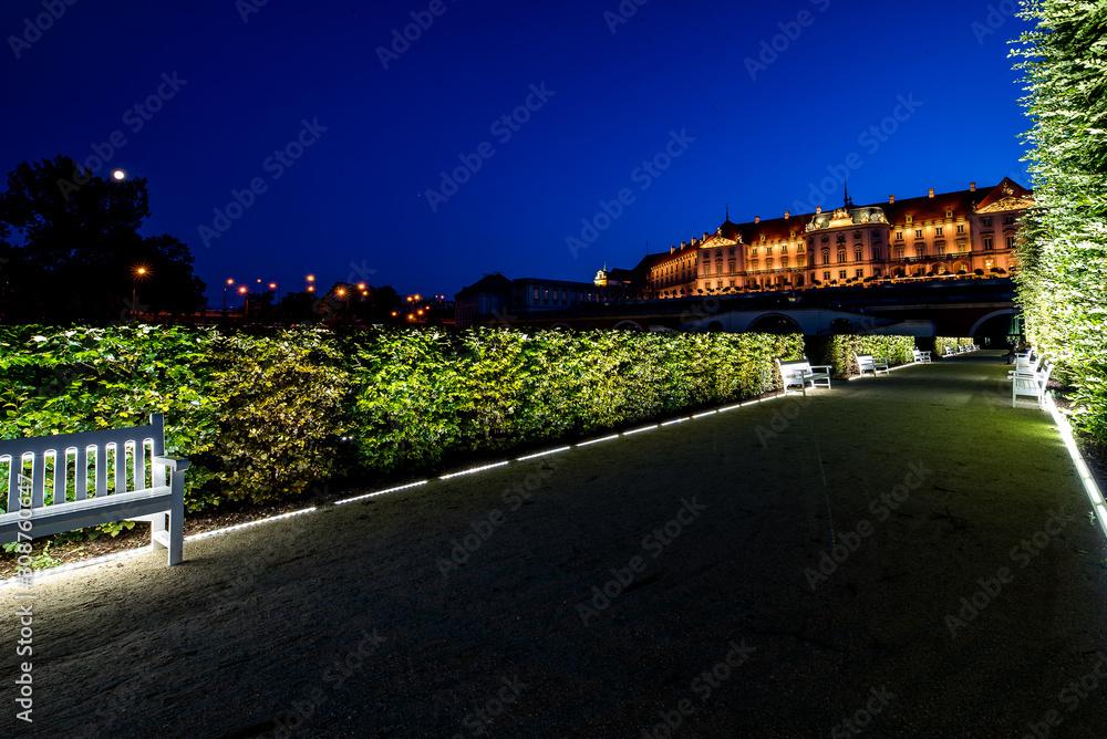 Fototapeta Piękny warszawski zamek nocą