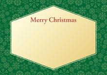 キラキラ雪の結晶背景のクリスマスフレーム_4
