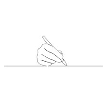 Continuous One Line Hand Write...