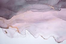 Alcohol Ink Sea Texture. Conte...