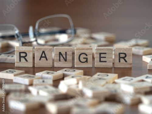 Cuadros en Lienzo ranger the word or concept represented by wooden letter tiles