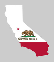 California Map Flag Vector Illustration Eps 10