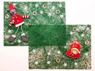 Décorations de fête en fibres de sisal.
