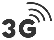3G Vector Icon. Flat 3G Pictogram Is Isolated On A White Background.