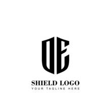 Initial Letter DE Shield Logo ...
