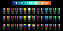 Color Trends 2020. An Example Of A Color Palette. Forecast Of The Future Color Trend. Vector Eps 10