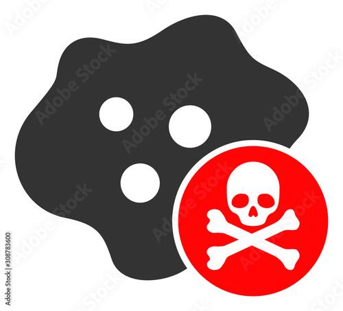 Photo Bactericidal toxin vector icon