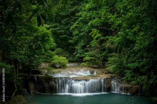 Cuadros en Lienzo  Kanchanaburi Jungle Waterfalls and Pristine Phuket Beaches
