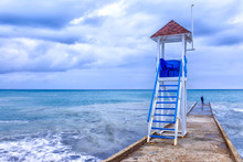 Rescue Tower On The Shore Of A...