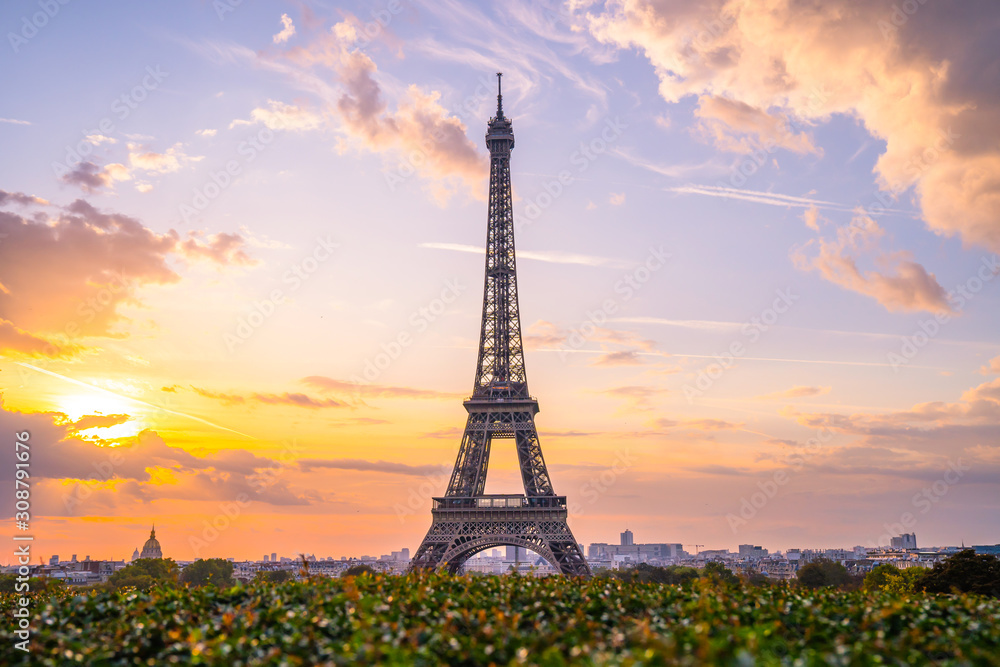 Fototapeta Eiffel tower at sunrise