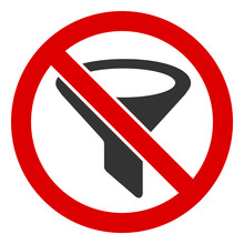 No Filter Vector Icon. Flat No Filter Pictogram Is Isolated On A White Background.