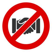 No Handshake Vector Icon. Flat...