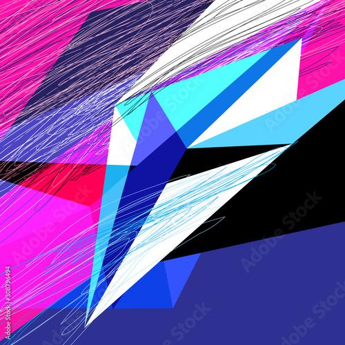 Vászonkép Lovely vector abstract background