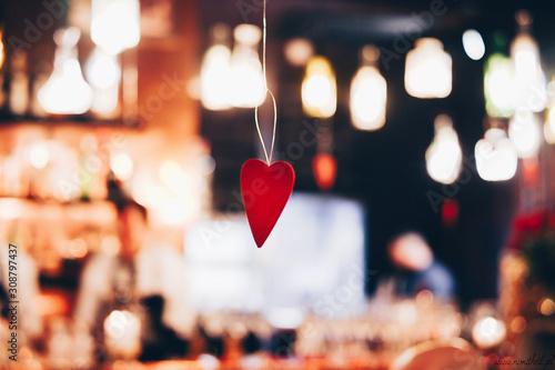 Obraz Święta, Boże Narodzenie, miłość, bokeh, serce  - fototapety do salonu