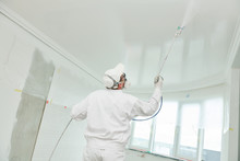 Painter Worker With Airless Pa...