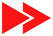 Rewind Forward Vector Icon. Fl...