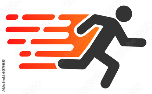 Fotografering Rush running man vector icon