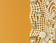 Pearls Background. Woman's Jew...