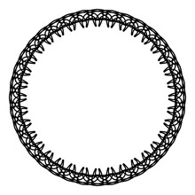 Rounded Frame Simple Black Whi...